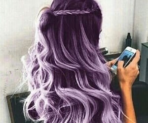 hair, lavender, and lavender hair image