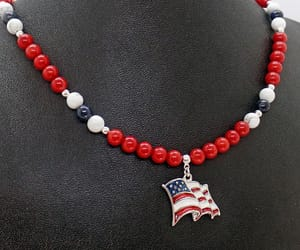 4th of july, red coral, and gemstone jewelry image