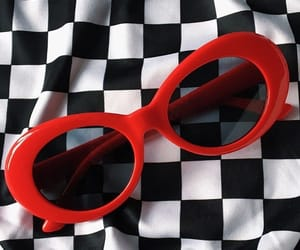 sunglasses, 90s, and checkered image