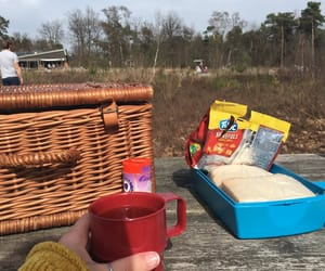 crisps, picnic, and sunny day image