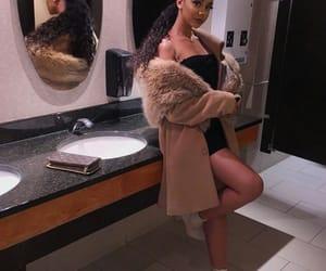 fashion, fur coat, and girls image