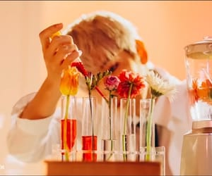 exo, baekhyun, and flowers image