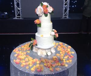 buttercream, flowers, and wedding image