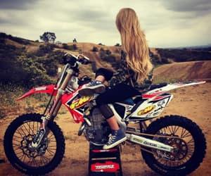 girl and motocross image