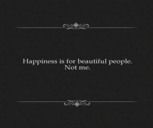 happiness, black and white, and quote image