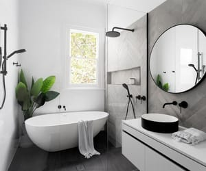bath, bathroom, and design image