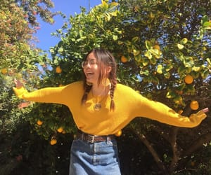 girl, indie, and yellow image
