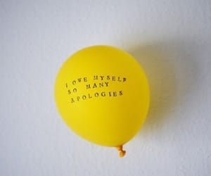 yellow, balloon, and quotes image