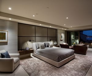 bedroom, house, and beige image