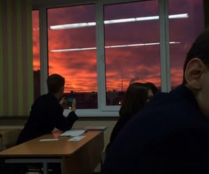 sunset, sky, and aesthetic image