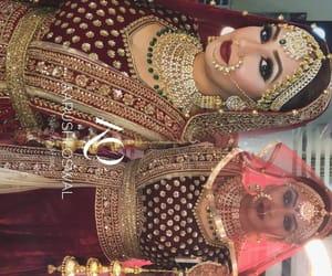 punjabi, wedding dress, and lehenga image
