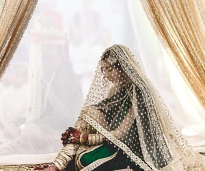 punjabi, wedding dress, and muslim bride image