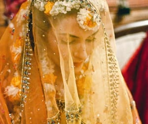 veil, pakistani bride, and south asian image