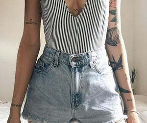 fashion, tattoo, and style image