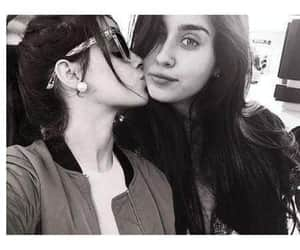 girls, kiss, and lesbians image