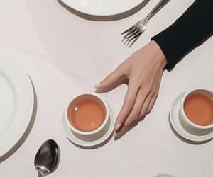tea, hand, and coffee image