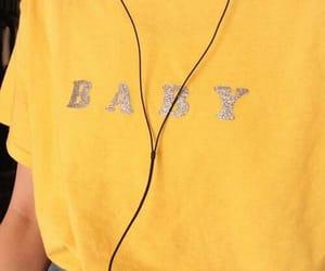 yellow, aesthetic, and baby image