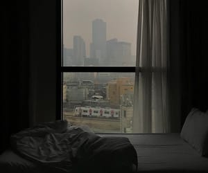aesthetic, bed, and buildings image