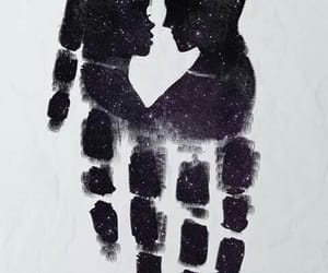 love, art, and black image