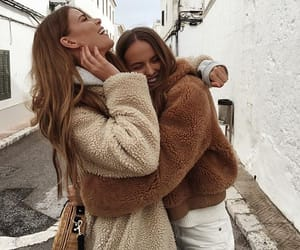 girl, friends, and fashion image