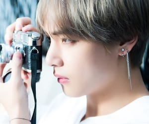 v, bts, and kimtaehyung image