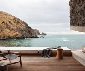 house, ocean, and photography image