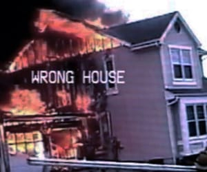 grunge, house, and fire image