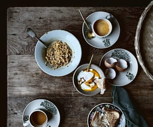 breakfast, coffee, and noodles image