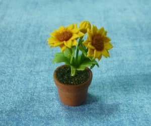 etsy, flower pot, and miniature image