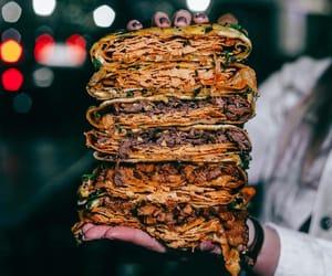 beef, pancake, and asian food image