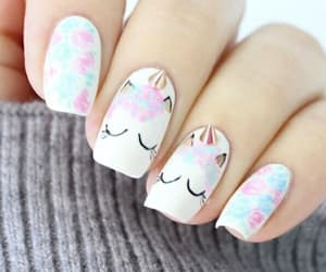 nails, unicorn, and blue image