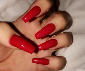 red nails, nails goals, and claws inspo image