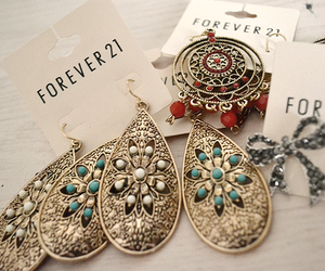 fashion, forever 21, and earrings image