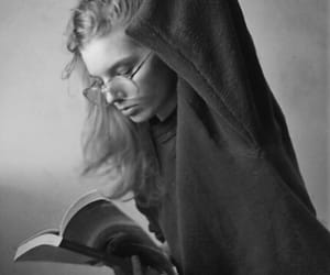 black and white, books, and read image
