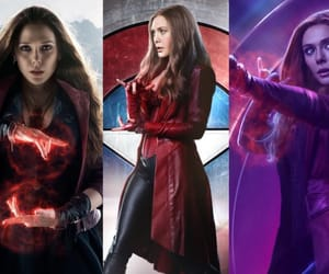 Avengers, red, and scarlet witch image