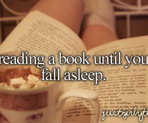 book, reading, and sleep image