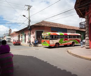 Nicaragua, travel, and chickenbus image