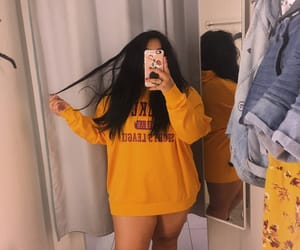 girl, H&M, and short image