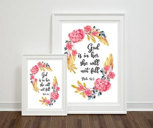 etsy, psalm 46:5, and nursery wall art image
