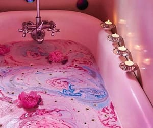 pink, bath, and aesthetic image