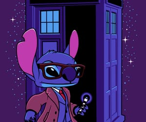 doctor who, stitch, and tardis image