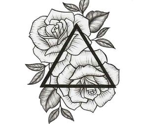 rose, art, and tattoo image