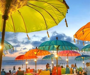 beach, cozy, and colorful image