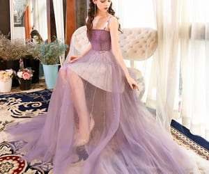 evening dress, summer dress, and tulle image