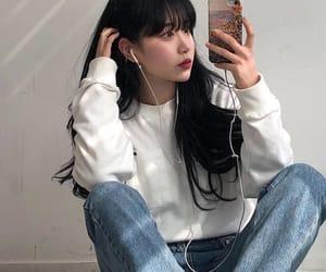 ulzzang, asian girl, and girl image