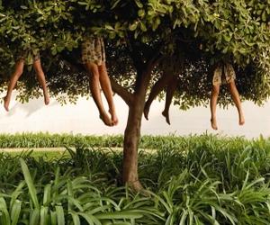 girl, tree, and woman image
