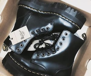black, boots, and dr martens image