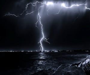 lightning, night, and nature image