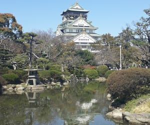 japan, osaka castle, and osaka image