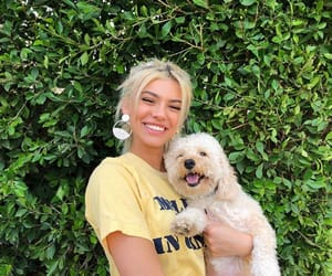 kelsey calemine, dog, and blonde image